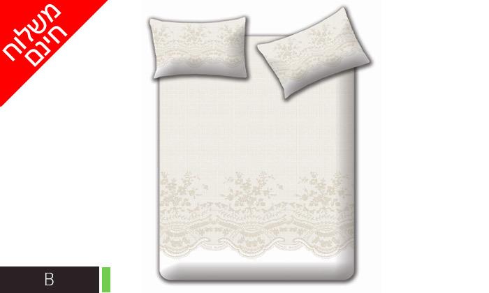 4 מצעי קיץ 100% כותנה למיטה זוגית Homestyle - משלוח חינם