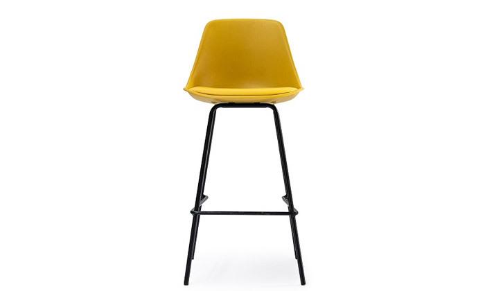 3 כיסא בר מרופד עם משענת