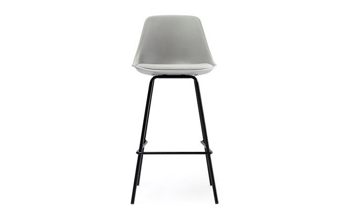 4 כיסא בר מרופד עם משענת