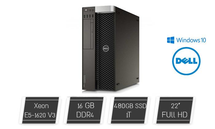 2 מחשב נייח דל DELL עם מעבד Xeon E5 וכ. גרפי NVIDIA QUADRO K2000