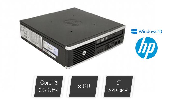 2 מחשב נייח HP קטן עם מעבד i3