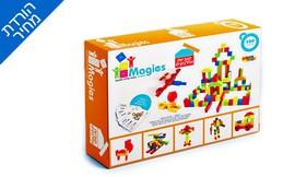 משחק קוביות מגנטים 100 חלקים