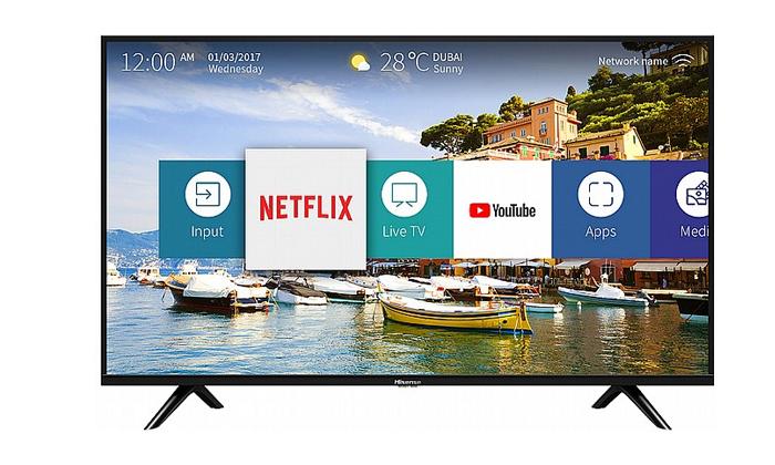 2 טלוויזיה חכמה Hisense 4K, מסך 55 אינץ'