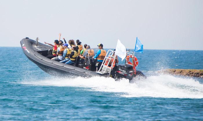 5 שייט בסירת טורנדו - שמורת הטבע אכזיב וראש הנקרה