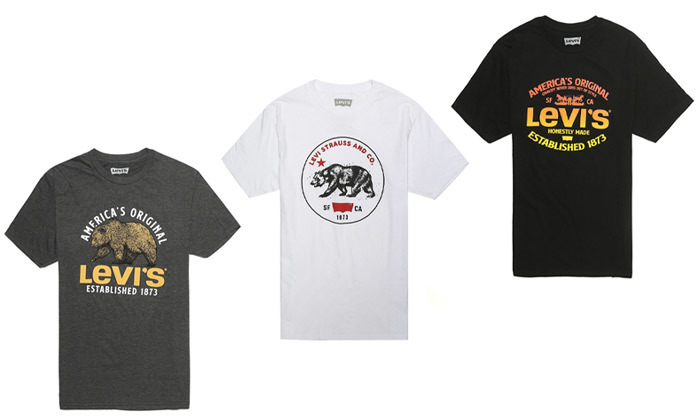 2 חולצות גברים 100% כותנה, ליוויס LEVIS