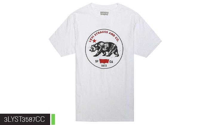 3 חולצות גברים 100% כותנה, ליוויס LEVIS