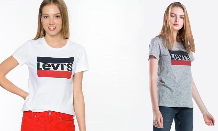 2 חולצות נשים 100% כותנה, ליוויס LEVIS