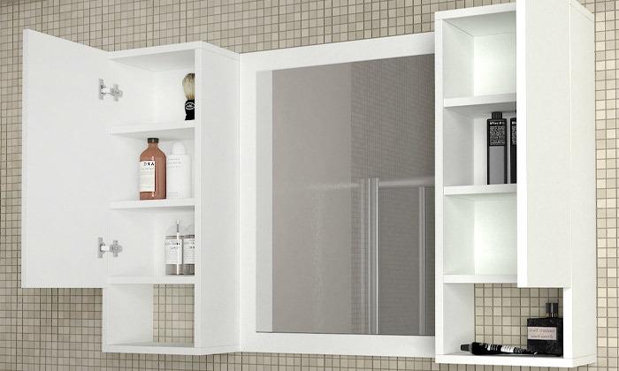 2 ארון משולב מראה לחדר האמבטיה