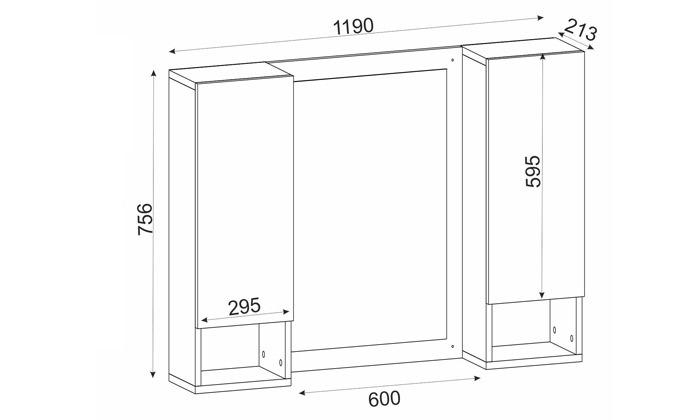 4 ארון משולב מראה לחדר האמבטיה