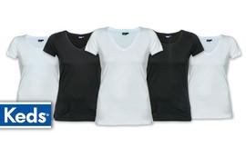 5 חולצות קצרות לנשים KEDS