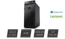 """מחשב נייח Lenovo עם מסך """"22"""