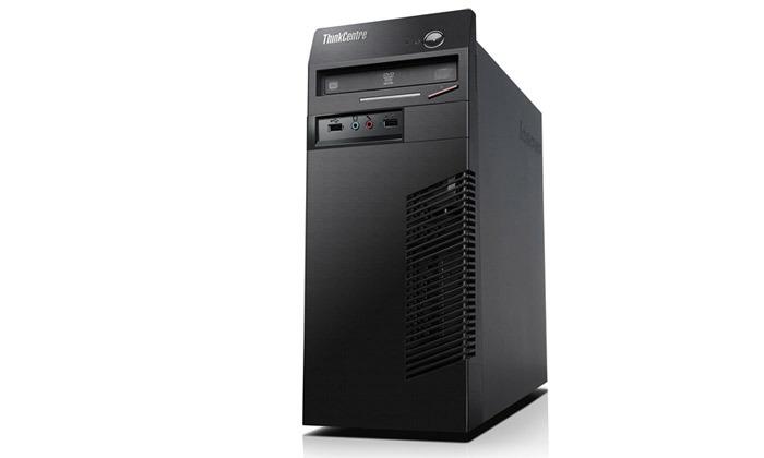 """4 מחשב נייח מחודש לנובו Lenovo דגם M72e עם זיכרון 8GB ומעבד i5 - כולל מסך """"22"""