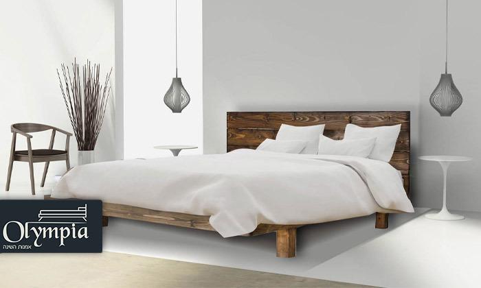 2 אולימפיה Olympia: מיטה מעץ מלא עם מזרן, דגם 5013