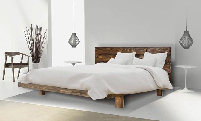 5 אולימפיה Olympia: מיטה מעץ מלא עם מזרן, דגם 5013
