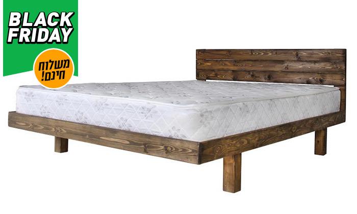 3 אולימפיה Olympia: מיטה מעץ מלא עם מזרן, דגם 5013 - משלוח חינם