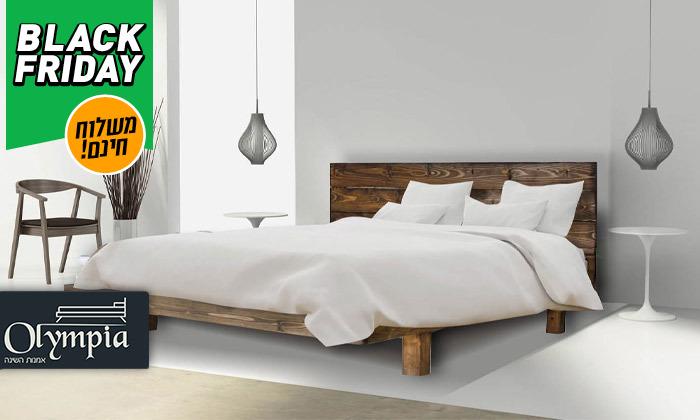 2 אולימפיה Olympia: מיטה מעץ מלא עם מזרן, דגם 5013 - משלוח חינם