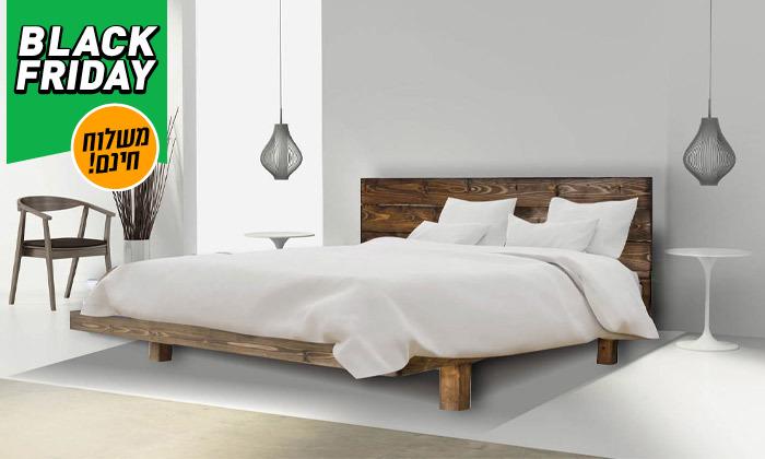 5 אולימפיה Olympia: מיטה מעץ מלא עם מזרן, דגם 5013 - משלוח חינם