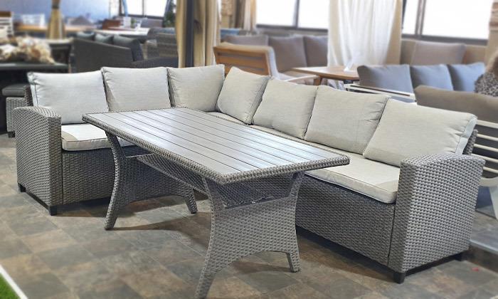 2 מערכת ישיבה פינתית לגינה עם שולחן, דגם סיאול