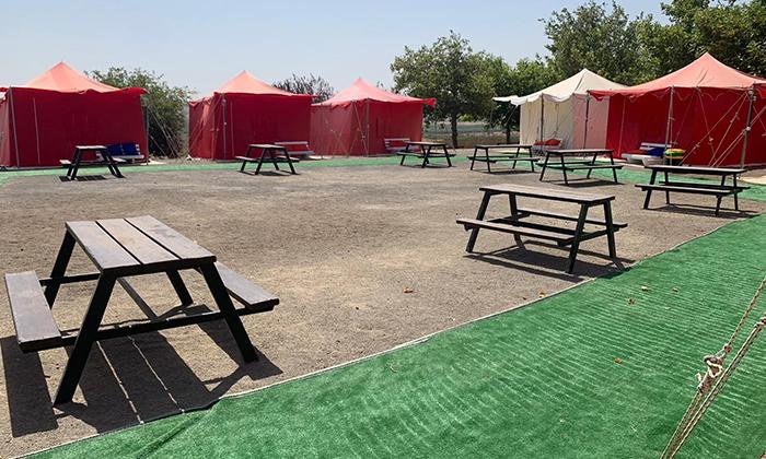 9 אוגוסט משפחתי במתחם האוהלים של כפר הנופש עין זיוון