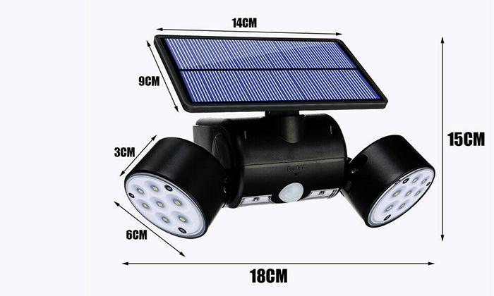 4 פנס סולארי עם חיישנים