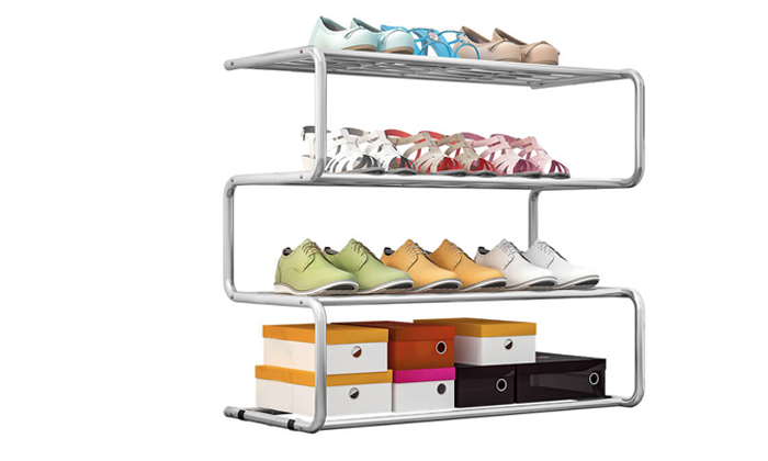 2 מעמד לנעליים 4 שלבים, דגם זיגזג