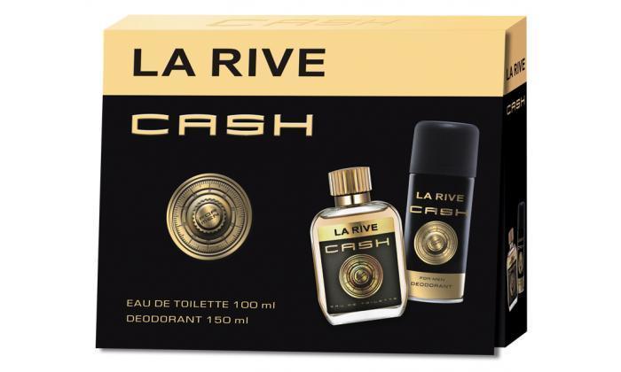 2 סט בושם ודאודורנט לגבר LA RIVE Cash