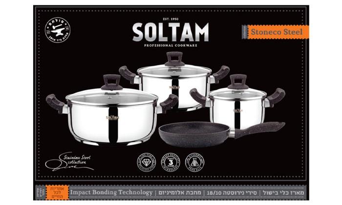 3 סולתם SOLTAM סט סירים ומחבת 7 חלקים