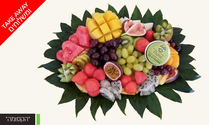 """4 מגש פירות כולל משלוח לת""""א, ר""""ג וגבעתיים - פרי היופי"""