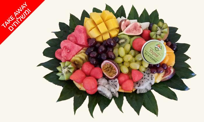"""2 מגש פירות כולל משלוח לת""""א, ר""""ג וגבעתיים - פרי היופי"""
