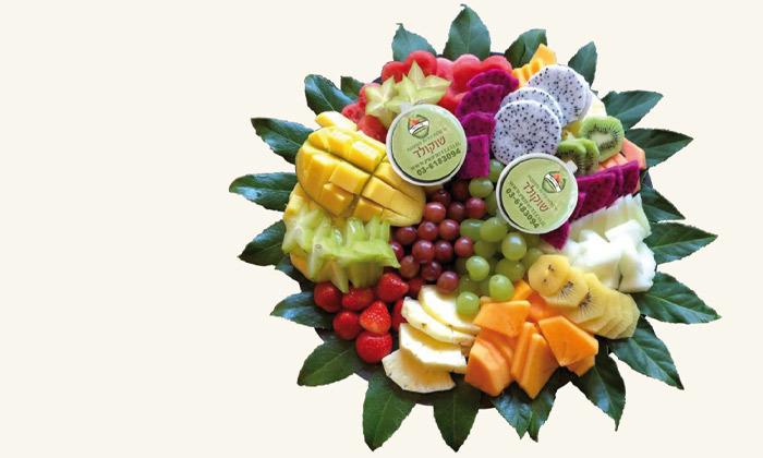 """5 מגש פירות כולל משלוח לת""""א, ר""""ג וגבעתיים - פרי היופי"""