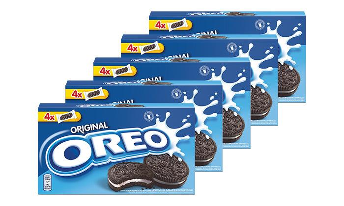 2 12 חבילות אוראו OREO - עוגיות סנדוויץ' בטעם שוקולד עם קרם וניל