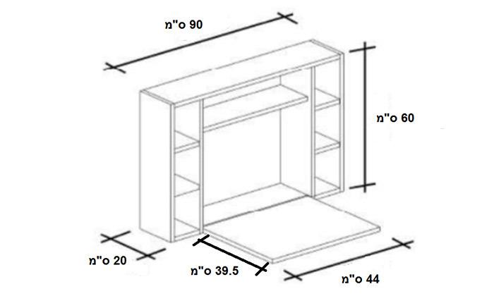 8 שולחן מחשב תלוי מתקפל RAZCO