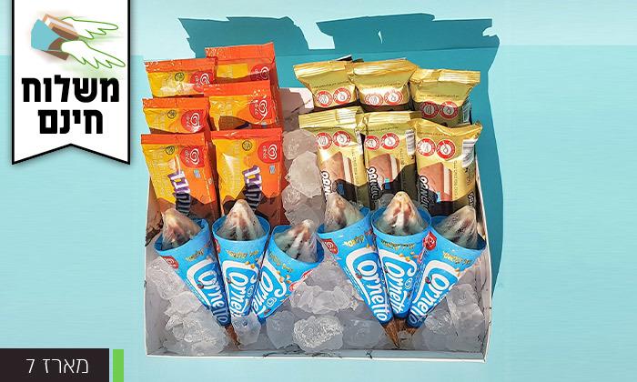 6 מארז גלידות כולל משלוח חינם עד הבית למגוון ערים