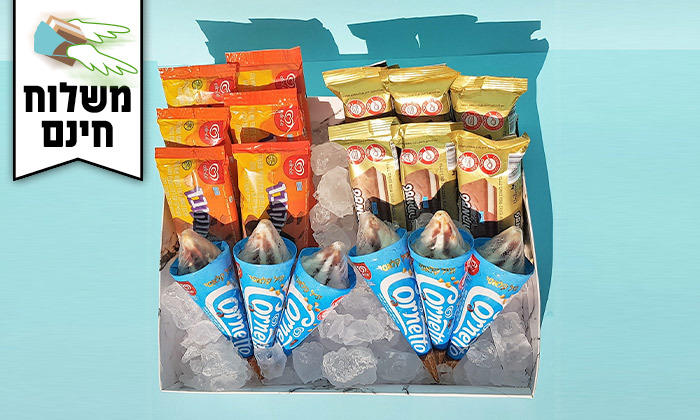8 מארז גלידות כולל משלוח חינם עד הבית למגוון ערים