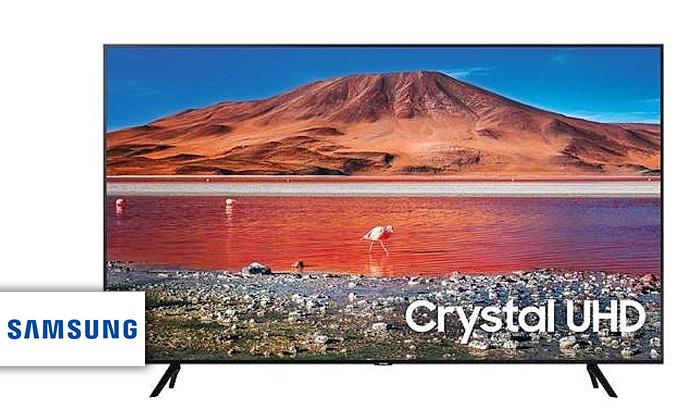 2 טלוויזיה חכמה SAMSUNG 4K, מסך 43 אינץ'