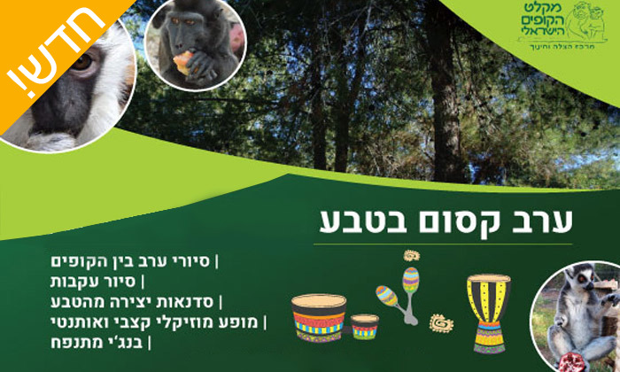2 מקלט הקופים הישראלי - פסטיבל לכל המשפחה ביער בן שמן