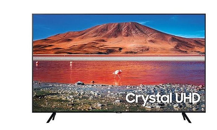 3 טלוויזיה חכמה SAMSUNG 4K, מסך 55 אינץ'