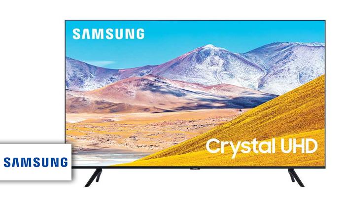 2 טלוויזיה חכמה SAMSUNG 4K, מסך 75 אינץ'