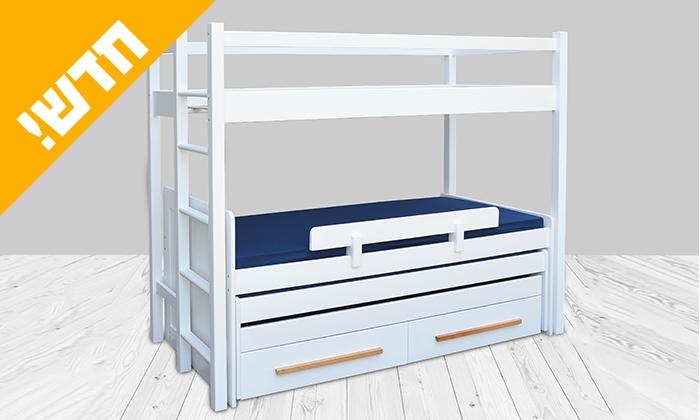 5 מיטת ילדים ונוער עם מעקה בטיחות