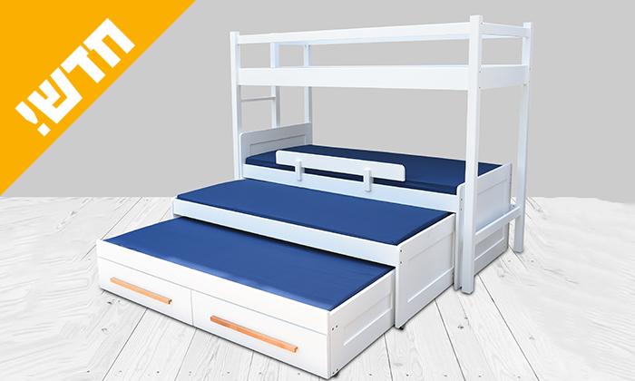 2 מיטת ילדים ונוער עם מעקה בטיחות