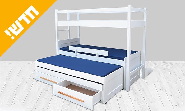4 מיטת ילדים ונוער עם מעקה בטיחות