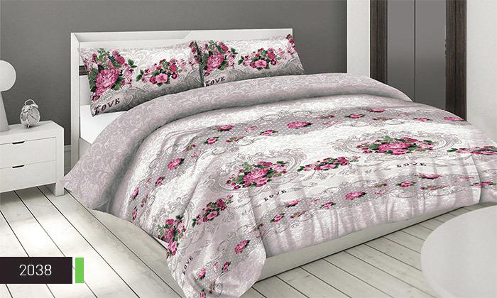 4 סט מצעים 100% כותנה ROMANTEX למיטת יחיד או זוגית