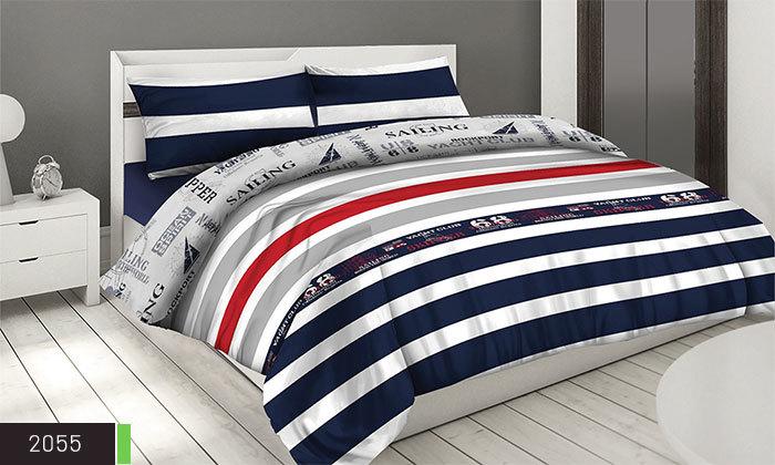 11 סט מצעים 100% כותנה ROMANTEX למיטת יחיד או זוגית