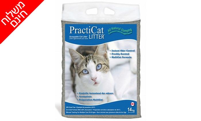 3 חמישה שקים של חול מתגבש פרמיום לחתול practicat - משלוח חינם