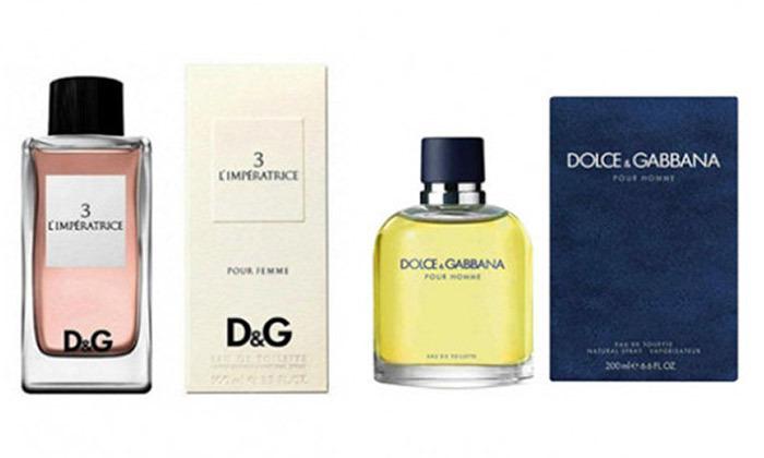 2 בושם לגבר ולאישה Dolce & Gabbana לבחירה