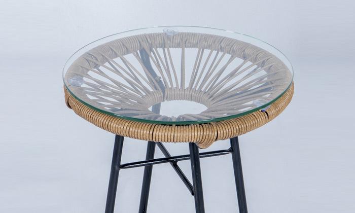 4 פינת ישיבה זוגית דגם מרטיני, צבע עץ טבעי