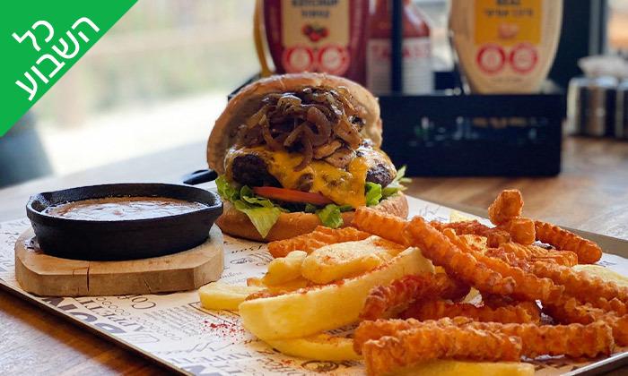 8 ארוחה זוגית במסעדת הקצב burger, צומת עדי