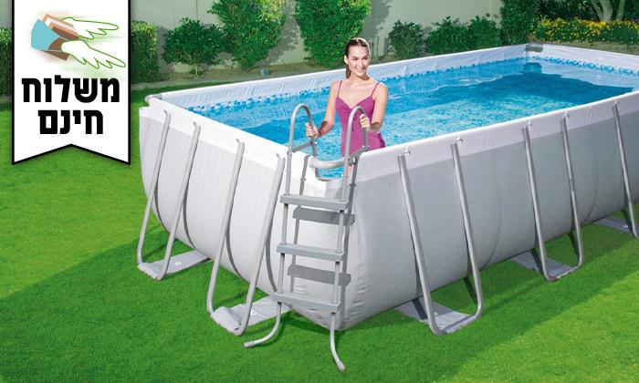 2 בריכת שחייה מלבנית Bestway - משלוח חינם