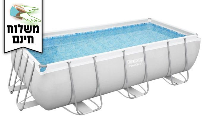 10 בריכת שחייה מלבנית Bestway - משלוח חינם