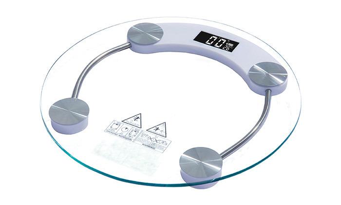 2 משקל זכוכית דיגיטלי עגול,B FRESH